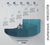 5 steps template for... | Shutterstock .eps vector #458101558