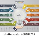infographic design template... | Shutterstock .eps vector #458102239
