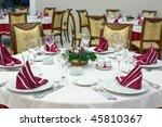 beautiful set room restaurant... | Shutterstock . vector #45810367