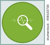 heart monitor pulse line icon.