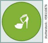 high heeled sandal illustration.   Shutterstock .eps vector #458110876