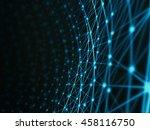 futuristic technology art... | Shutterstock . vector #458116750