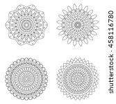 set of floral mandalas  vector... | Shutterstock .eps vector #458116780