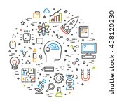 line web concept for science.... | Shutterstock .eps vector #458120230