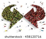 large and diverse group of... | Shutterstock . vector #458120716