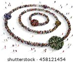 large and diverse group of... | Shutterstock . vector #458121454