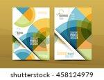 geometric mosaic design  a4... | Shutterstock .eps vector #458124979
