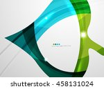 leaf shape wave abstract... | Shutterstock . vector #458131024