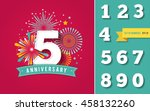 anniversary fireworks and... | Shutterstock .eps vector #458132260