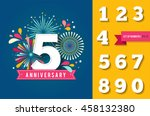 anniversary fireworks and... | Shutterstock .eps vector #458132380