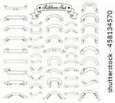 set of black hand drawn...   Shutterstock .eps vector #458134570