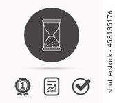 hourglass icon. sand end time... | Shutterstock .eps vector #458135176