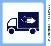 delivery sign icon  vector... | Shutterstock .eps vector #458139238
