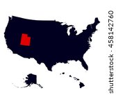 utah state in the united states ... | Shutterstock .eps vector #458142760