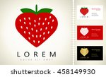 strawberry vector logo | Shutterstock .eps vector #458149930