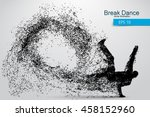 silhouette of a break dancer... | Shutterstock .eps vector #458152960