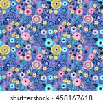 seamless pattern with flowers... | Shutterstock .eps vector #458167618