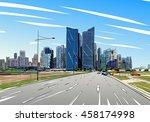 singapore. unusual perspective... | Shutterstock .eps vector #458174998