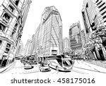 singapore. unusual perspective... | Shutterstock .eps vector #458175016