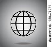 earth globe logo icon vector....