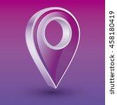 vector 3d purple place pointer