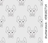 seamless vector pattern with... | Shutterstock .eps vector #458182714