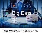 big data domain web page seo... | Shutterstock . vector #458183476