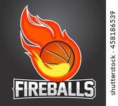 flying basketball ball with... | Shutterstock .eps vector #458186539