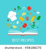best recipes concept with... | Shutterstock .eps vector #458188270