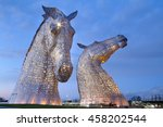 Evening Picture At The Kelpies...