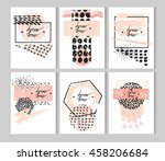 hand drawn vector abstract... | Shutterstock .eps vector #458206684