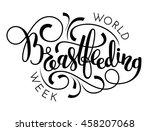 world breastfeeding week hand