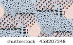 abstract hand drawn geometric... | Shutterstock .eps vector #458207248