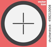 plus sign line vector icon. add ...