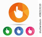 hand cursor sign icon. hand... | Shutterstock .eps vector #458213110