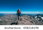 walking on the edge  on the... | Shutterstock . vector #458218198