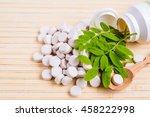 medicine herb. herbal pills... | Shutterstock . vector #458222998