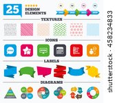 offer sale tags  textures and... | Shutterstock .eps vector #458234833
