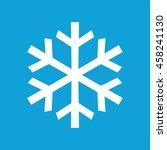 white snowflake vector icon.... | Shutterstock .eps vector #458241130