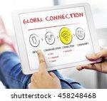 internet multimedia technology... | Shutterstock . vector #458248468