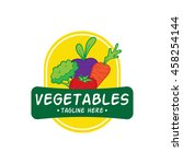 vegetable and healthy food logo ... | Shutterstock .eps vector #458254144