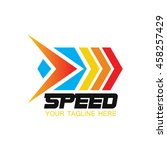 speed and fast logo template ... | Shutterstock .eps vector #458257429