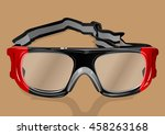 goggles | Shutterstock .eps vector #458263168