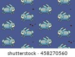 cute cartoon background with... | Shutterstock .eps vector #458270560