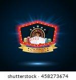 shining casino party banner...   Shutterstock .eps vector #458273674