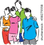 happy family together... | Shutterstock .eps vector #458275558