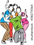 group of happy people... | Shutterstock .eps vector #458275564
