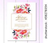 romantic invitation. wedding ... | Shutterstock .eps vector #458278354