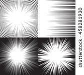 four background for comic books.... | Shutterstock .eps vector #458281930