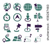 location  place icon set | Shutterstock .eps vector #458287483
